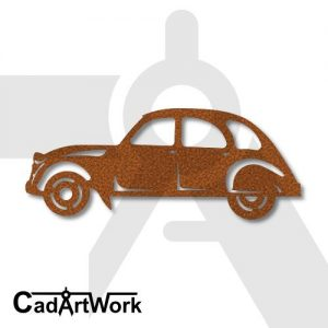 old car dxf artwork