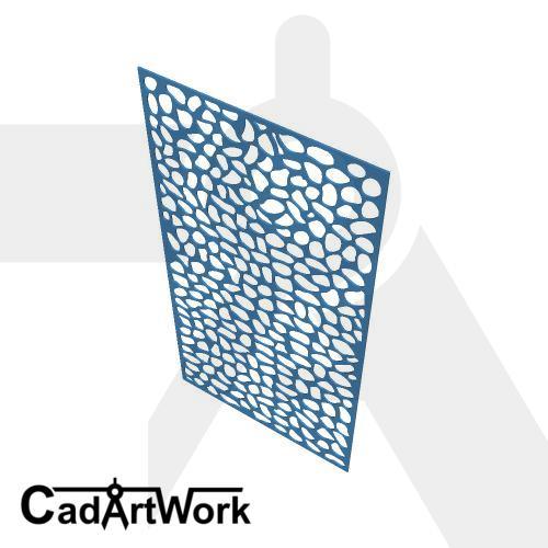 Pebble lasercut design