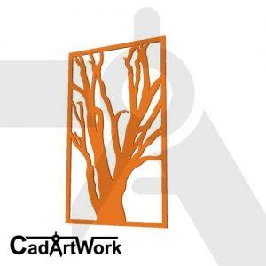 Dead tree wall screen