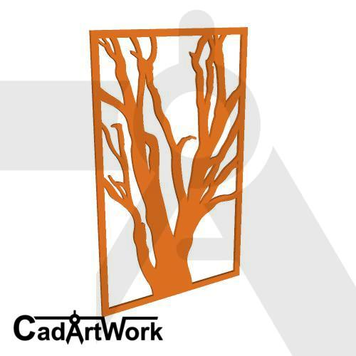 Dead tree wall screen