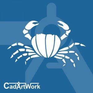 Crab laser cut