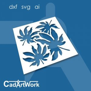 Cassava leaf stencil