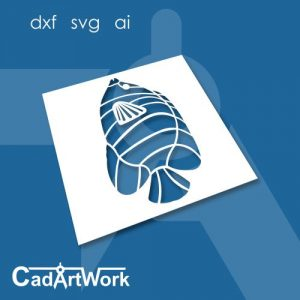 Angle fish dxf art