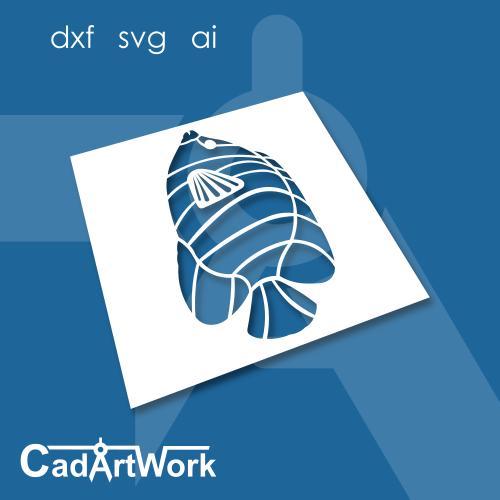 Angle fish dxf art
