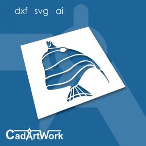 Butterfly fish dxf art