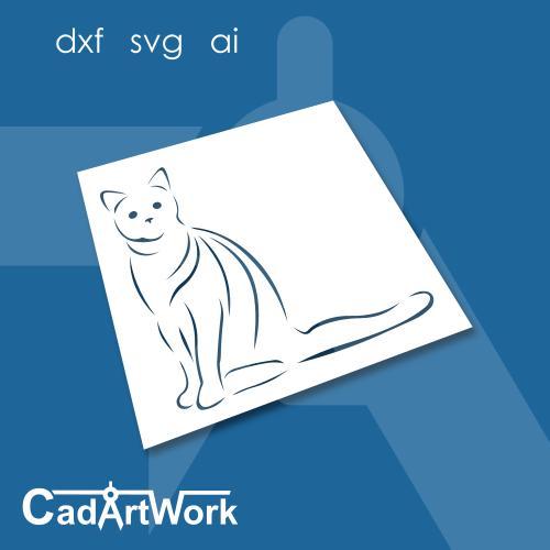Cat stencil template